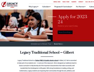 gilbert.legacytraditional.org screenshot