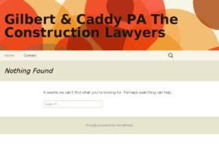 gilbertcaddy.com screenshot
