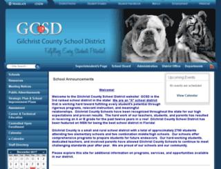 gilchristschools.schoolfusion.us screenshot