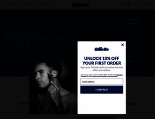 gillette.com screenshot