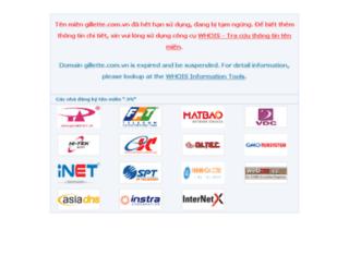 gillette.com.vn screenshot