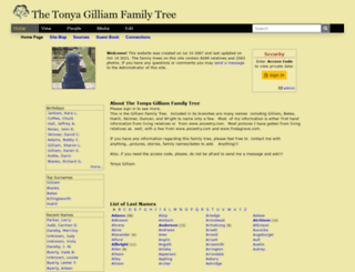 gilliamfamily.tribalpages.com screenshot