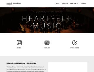 gillinghammusic.com screenshot