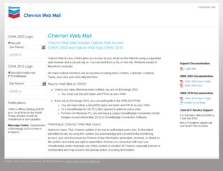 gilmail.chevron.com screenshot