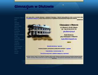 gimdlutow.szkoly.lodz.pl screenshot