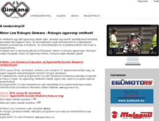 gimkana.motorline.hu screenshot