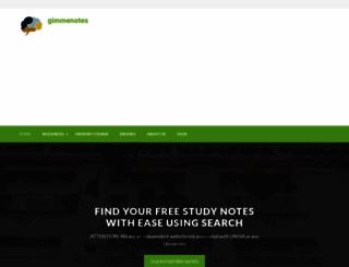 gimmenotes.co.za screenshot