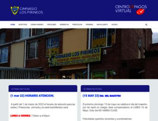 gimnasiolospirineos.com screenshot