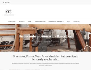 gimnasiosbarcelona.org screenshot