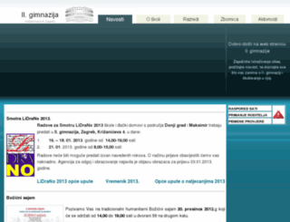 gimnazija-druga-zg.skole.hr screenshot