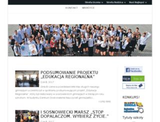 gimnazjum14.sosnowiec.pl screenshot