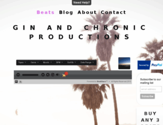 ginandchronicproductions.com screenshot