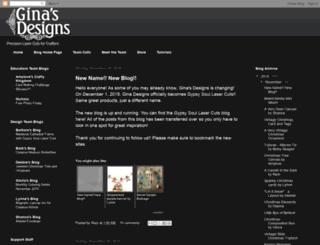 ginasdesigns.blogspot.com screenshot