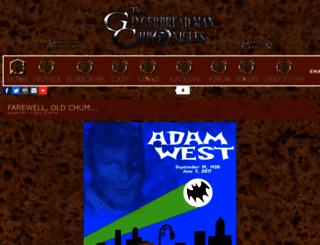 gingerbreadmanchronicles.thecomicseries.com screenshot