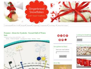 gingerbreadsnowflakes.com screenshot