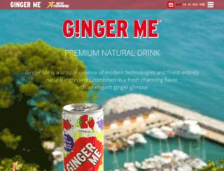 gingermedrink.com screenshot