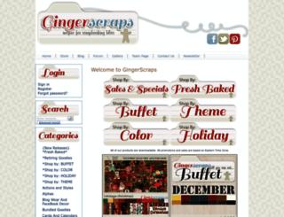 gingerscraps.net screenshot