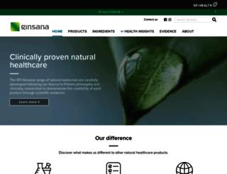 ginsanaproducts.com screenshot