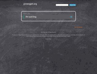 ginsengpet.org screenshot