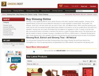 ginsengroot.com screenshot