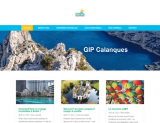 gipcalanques.fr screenshot