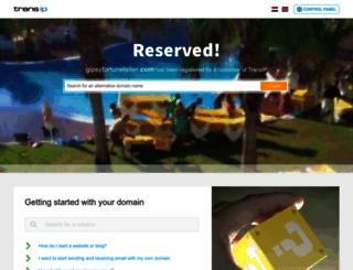 gipsyfortuneteller.com screenshot