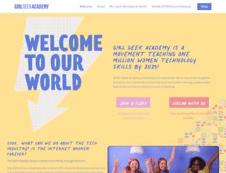 girlgeekacademy.com screenshot