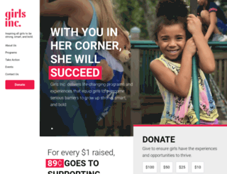 girlsincoakridge.org screenshot