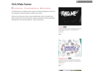 girlsmakegames.itch.io screenshot