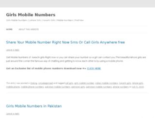 girlsmobilenumbers.wordpress.com screenshot