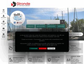 gironde.fr screenshot