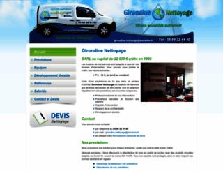 girondine-nettoyage.com screenshot