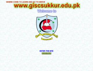giscsukkur.edu.pk screenshot