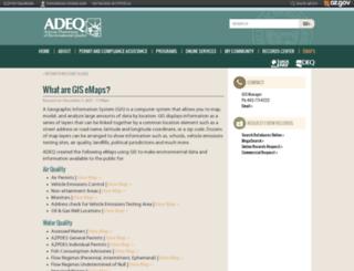 gisweb.azdeq.gov screenshot