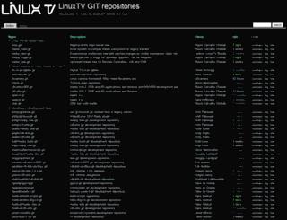 git.linuxtv.org screenshot