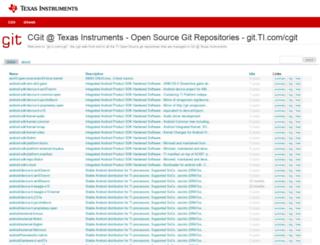 git.ti.com screenshot