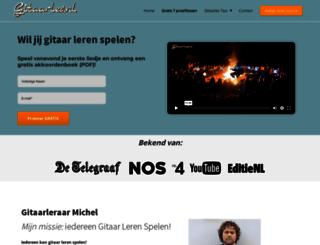 gitaarles.nl screenshot