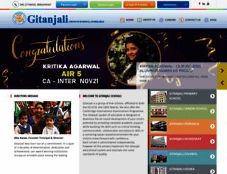 gitanjalischools.com screenshot