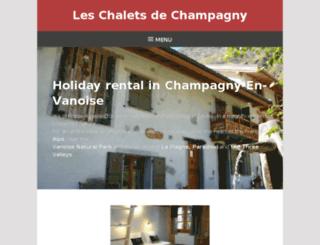 gite-champagny.com screenshot