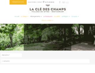 gites-cledeschamps.com screenshot