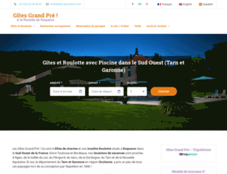 gites-grandpre.com screenshot