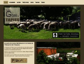 gites-herault-aveyron.com screenshot