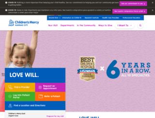 give.childrensmercy.org screenshot