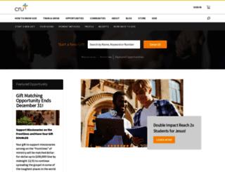 give.cru.org screenshot