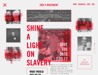 give.enditmovement.com screenshot