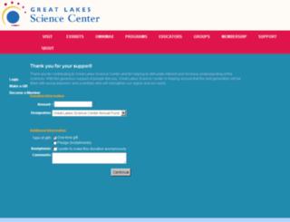 give.greatscience.com screenshot