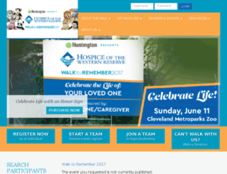 give.hospicewr.org screenshot
