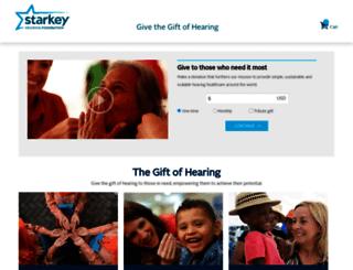 give.starkeyhearingfoundation.org screenshot
