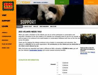 give.zooatlanta.org screenshot