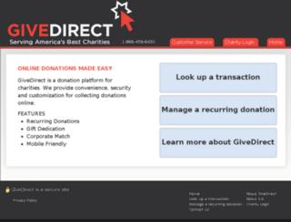 give2charity.org screenshot